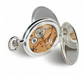 アエロ懐中時計(手巻き)純銀時計(スターリングシルバー925)スイス製50625-A901[送料無料]