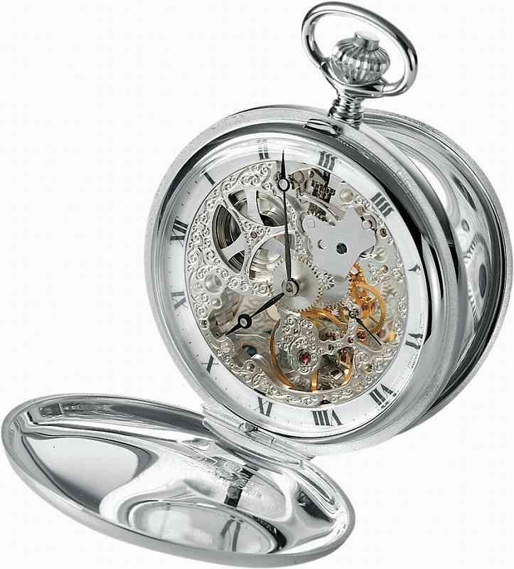 アエロ懐中時計(手巻き) 純銀時計(スターリングシルバー925)スイス製 57647-A901 [送料無料]
