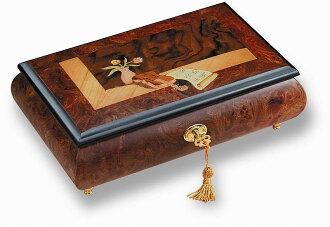 無舵雪橇R5134-001 36方言八音盒珠寶盒榆樹和核桃的瘤子材