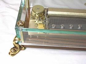 リュージュR5134-000144弁3曲入りオルゴールクリスタルBOX(ゴールド)[送料無料]