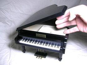グランドピアノ(黒)18弁オルゴール付き宝石箱サンキョー製(日本)AA-294A