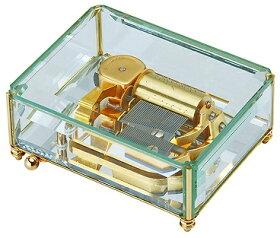 オルフェウス30弁オルゴールガラスボックスサンキョー(日本)EX-121