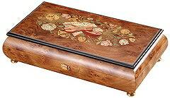 オルフェウスオルゴール50弁宝石箱タイプ楽器模様象嵌(ウッド)サンキョー製(日本)EX-271[送料無料]