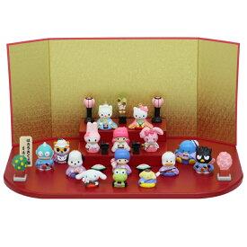 ハローキティ 雛人形 ひな人形 サンリオ 段飾り 15人飾り コンパクト Hello kitty 小さい おしゃれ 陶器 お雛様 吉徳