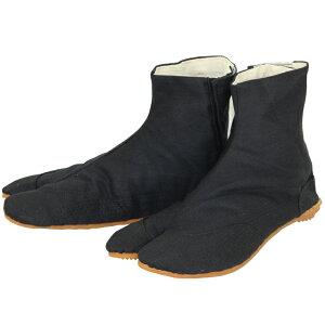 【きねや足袋】【お祭り足袋・職人足袋】無敵地下足袋 黒綾5枚こはぜ 手縫い付底28−30cm