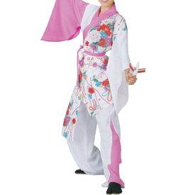 よさこい衣装 上衣 白・ピンク 花柄 C73134【よさこい/踊り衣裳/お祭用品/まつり用品/お祭り】
