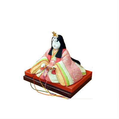 京都京人形もりさん正絹黄櫨染桐竹鳳凰『黄櫨雛』