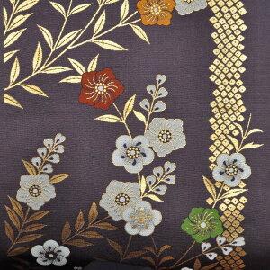 金欄織物 12 不織布貼り 帯かのこ紋 紫 金襴生地 幅70cm 長さ最低30cmからの販売 カットクロス 祭り衣装 金襴布 和柄 和柄生地 生地 端切れ はぎれ 通販 きんらん 金らん 和風布