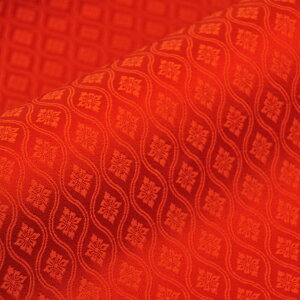 金襴 生地 和柄 生地 金襴 はぎれ 西陣織 生地 F 不織布貼り無し 立湧花菱 金襴織物 京都 西陣織 幅70cm 長さ最低30cmからの販売 切り売り カットクロス 金襴布 端切れ はぎれ 通販