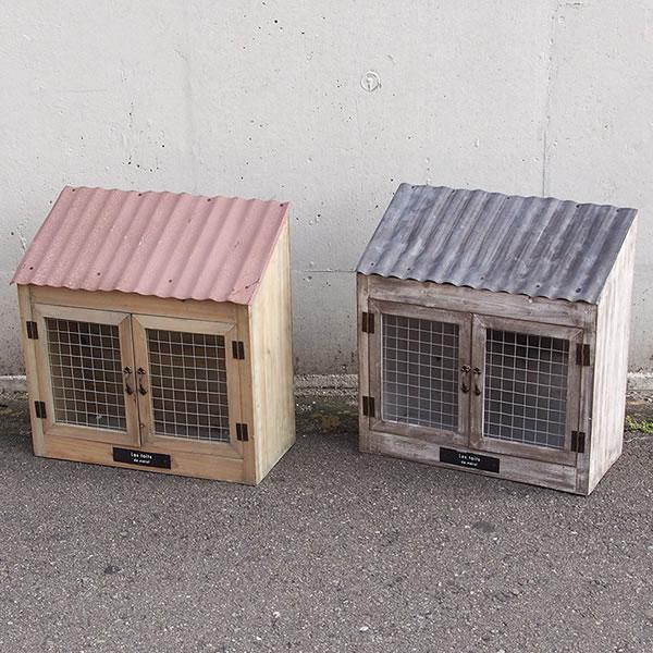 ツードアボックス WE-708 2カラー トタン屋根がついたナチュかっこいい木製アイテム インテリア雑貨/ガーデン雑貨/ウッドボックス/木製/小物入れ