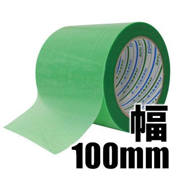 ダイヤテックス Y-09-GR パイオラン養生用粘着テープ(100mm幅) 手で簡単に切れて作業性抜群 【あす楽対応】