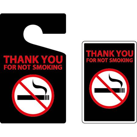 【メール便 ゆうパケット299円】 パーキングパーミット&ステッカー THANK YOU FOR NOT SMOKING 禁煙ご協力ありがとうございます HS-06 アメリカ雑貨/アメ雑貨/ガレージ/ルームミラー/駐車許可