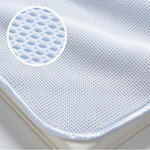 京都西川ローズアイス敷きパッド3Dアイスハニカム爽快なひんやり感カラダの熱を拡散優れた通気性シングルサイズ100cm×205cm