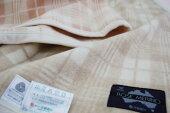 西川ローズメリノウール毛布【京都西川】シングルサイズ140cm×200cm西川毛布1.2kgウール毛布[ピンク/ベージュ]日本製1575