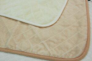 【限定セール】京都西川ローズメリノウール敷きパッドシングルサイズ100×205cmご家庭で洗濯OK【送料無料】毛羽部分ウール100%チクチクしないメリノウール敷きパッドあったかパッド