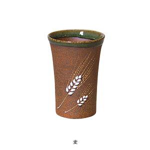 伊賀焼きの気孔状の表面が作り出すクリーミーな泡がビールのうまさを格別なものにしてくれます。伊賀焼きビアマグコレクションビアマグ麦(小)BC−61Φ6×h9cm150cc