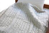 リネンガーゼキルトケット本麻肌掛けふとんシングルサイズ生地:麻100%中綿:綿麻100%夏に最適クール冷たい肌触りひえひえ寝具天然素材