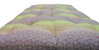 敷き布団オーダー天然素材綿わた100%敷布団セミダブルロングメキシコ綿70%/インド綿30%手作り綿わた敷きふとん柄はお任せ!ピンク系orブルー系【別注サイズや中綿の量の変更もOK!】