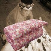 敷き布団天然素材綿わた100%敷布団シングルロング手作り綿わた敷きふとん柄はお任せ!ピンク系orブルー系敷きマットしき布団敷きフトンしきふとん【別注サイズや中綿の量の変更もOK!】