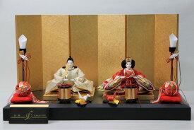 後藤由香子作 折鶴 創作雛人形平飾り 【雛人形親王飾り】