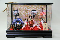舞桜5人つるし飾り付きアクリルケース