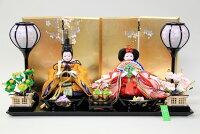 雛人形おしゃれコンパク親王飾り豆小親王有職(黄櫨染)19-40