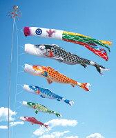慶祝の鯉吉兆2mプレミアムベランダスタンドセット(水袋)