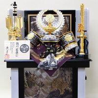 五月人形コンパクト収納飾り10号徳川家康兜セット(G1064)