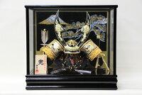 五月人形コンパクおしゃれケース飾り兜かぶとガラスケース飾り螺鈿ケース(富士松)