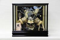 五月人形コンパクおしゃれケース飾り鍬形兜ガラスケース飾り螺鈿細工(龍)