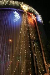 ドレープライト・トップスター 3m銀コード白210球LED コントローラー付可変(防雨) LEDクリスマスイルミネーション 【smtb-k】【w3】
