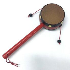 民芸品 玩具 皮でんでん太鼓 懐かし おもちゃ お土産 日本文化 伝統 子供 楽器 赤ちゃん