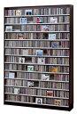 CD,DVDの収納棚 CD/DVDストッカー (CDラック DVDラック) CS1668 CD約1668枚収納