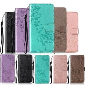 【全5色】iPod touch7/touch6/touch5 手帳型レザーケース|第7世代/第6世代/第5世代 蒲公英 タンポポ 花 横開き皮革ウォレット風 カバー 送料無料