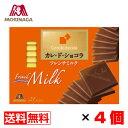 森永チョコレート カレ・ド・ショコラ フレンチミルク 21枚入×4箱【送料無料】メール便 まとめ買い