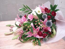 【送料無料(一部地域を除く)】moriyaにお任せ、抱える大きさのボリューム花束。【ご出演・発表会】【ご退職・歓送迎会】