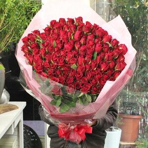 赤いバラ、ピンクバラ、黄色バラ、オレンジバラ100本の花束☆国産の薔薇の中でもその季節ごとに品質の良い産地を特選し、選び抜いたバラをセンスよく束ねます。【送料無料】