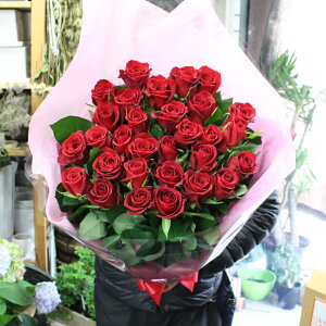 MORIYAROSES☆赤いバラ、ピンクバラ、黄色バラ、オレンジバラから色を選べる30本のバラの花束☆【スタンダード】季節ごとに品質の良い産地を特選し、選び抜いたバラたちをセンスよく束ねま