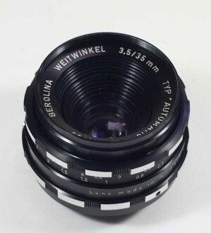 德国制造的镜头 M42 BEROLINA WEITWINKEL 3.5 Berolina veitevinkel 3.5/35 / 35 为 M42