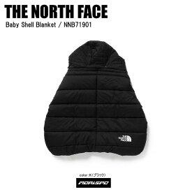 THE NORTH FACE ノースフェイス 抱っこ紐ケープ ベビーホッパー BABY SHELL BLANKET ベビーシェルブランケット NNB71901 ブラック