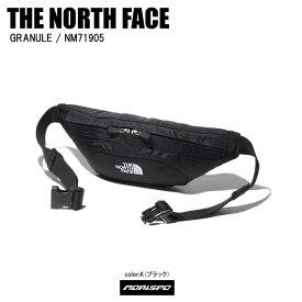 THE NORTH FACE ノースフェイス NM71905 GRANULE グラニュール NM71905 K K ブラック ヒップバッグ アウトドア カジュアル メンズ レディース