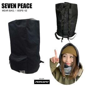 SEVENPEACE セブンピース 18SPE-52 WEAR BAG ウェアバッグ 18SPE-52 ブラック   バック類 バックパック