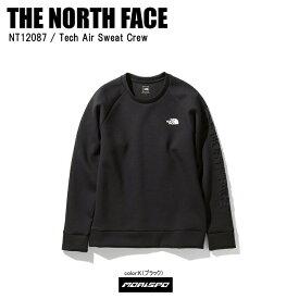 THE NORTH FACE ノースフェイス トレーナー TECH AIR SW CREW テックエアスウェットクルー NT12087 ブラック