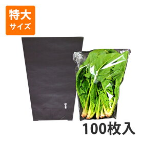 【OPP防曇袋】野菜用ボードン三角袋 特大 厚み20μ<100枚入り>