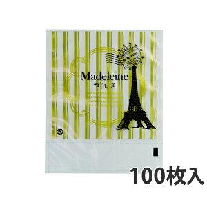 【OP袋】 カマス口ずらし袋 KT No.3マドレーヌ 135×130+35mm(100枚入)