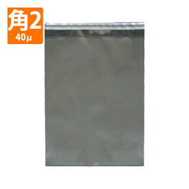 【OPP封筒】角形2号サイズ240×332+36/40μ/両面透明/テープ付き(K2-401)