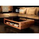 テーブル 【送料無料】 Glory ガラステーブル センターテーブル 高級感テーブル ガラステーブル リビングテーブル 木…