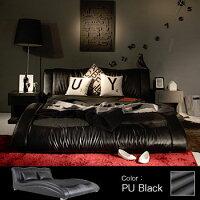 ベッドベッドフレームベット革PUレザーベッドセミダブルサイズフロアベッドローベットロータイプデザイナーズbedインテリア家具北欧モダンMETRIA