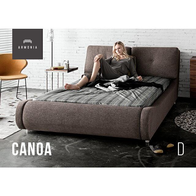 ベッド ダブル ダブルベッド ベット ベッドフレーム bed Canoa モダンテイストベッド モダンリビング 北欧テイストベッド 寝室 ベッドルーム インテリア 家具 北欧 モダン アルモニア 新生活