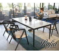 ダイニングテーブルダイニング木製ダイニングチェアテーブル食卓Rafia無垢食卓テーブル大理石テーブルデザイナーズシンプルアルモニアインテリア家具北欧モダン送料無料